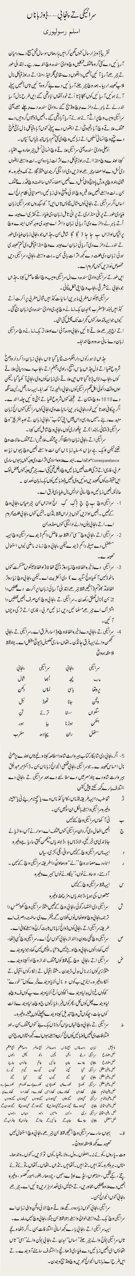 Seraiki Tay Punjabi Dhoon Zubana (Aslam Rasoolpuri)